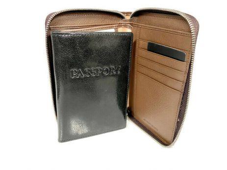Кошелёк кожаный на молнии Jancarlo Baretti 8859