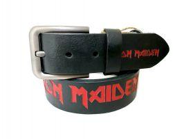 Ремень кожаный из рок серии Iron Maiden