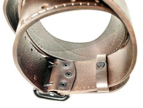 Офицерский кожаный мужской ремень 5039 br