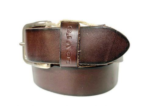 Кожаный ремень Levis 1581 brown