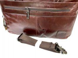 Мужская кожаная деловая сумка ZZNICK 1586 coffee_3
