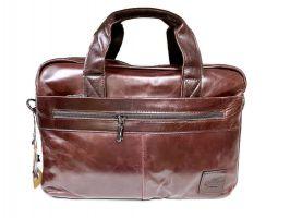 Мужская кожаная деловая сумка ZZNICK 1586 coffee_0