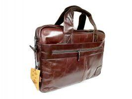 Мужская кожаная деловая сумка ZZNICK 1586 coffee_1