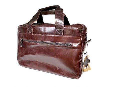 Мужская кожаная деловая сумка ZZNICK 1586 coffee