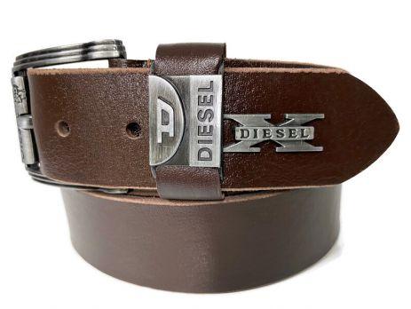 Кожаный ремень Diesel brown 1606