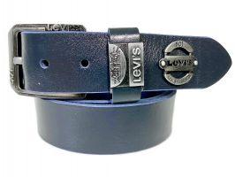 Кожаный ремень Levi's blue 1607_0