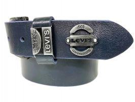 Кожаный ремень Levi's blue 1607_2