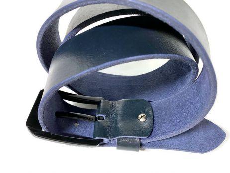 Кожаный ремень Levi's blue 1607