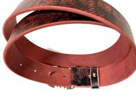Ремень кожаный Scorpion red_4