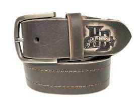 Ремень кожаный Harley Davidson brown 1619