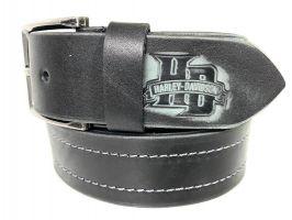 Ремень кожаный Harley Davidson black 1620_2