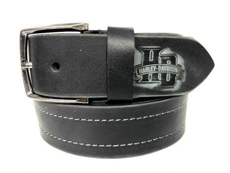 Ремень кожаный Harley Davidson black 1620