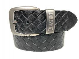 Ремень кожаный Levis black 1624