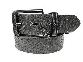 Ремень кожаный Armani black 1628_0