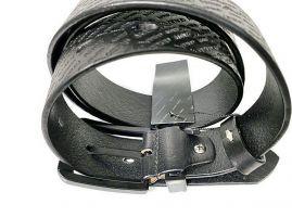 Ремень кожаный Armani black 1628_4