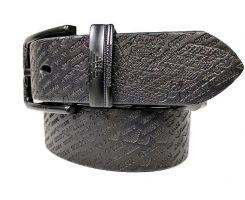 Ремень кожаный Armani black 1628_2