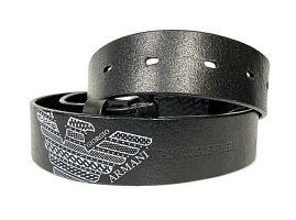 Ремень кожаный Armani black 1628_3