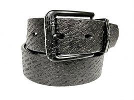 Ремень кожаный Armani black 1628_1