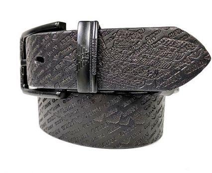 Ремень кожаный Armani black 1628