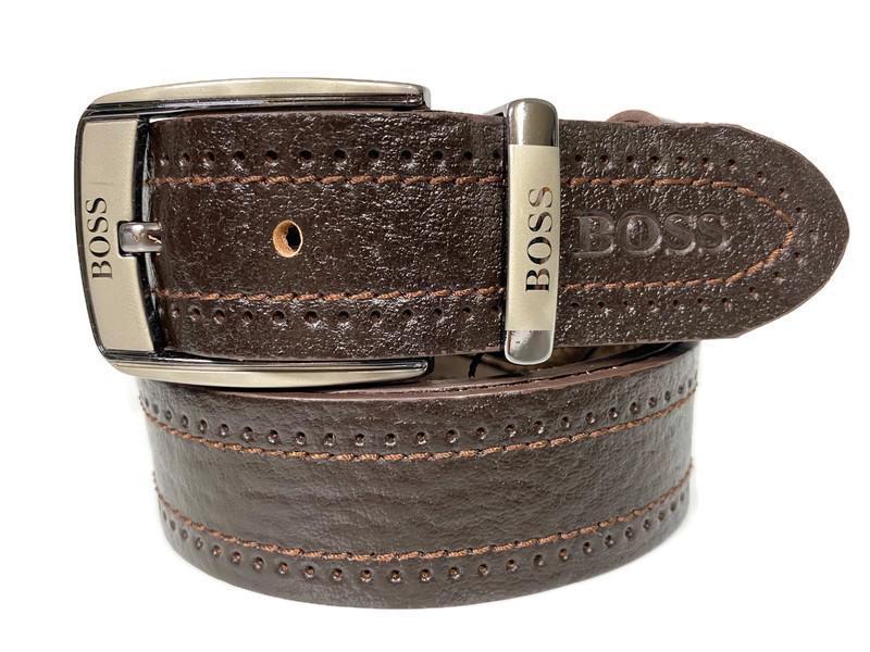 Ремень кожаный брендовый Boss 1629