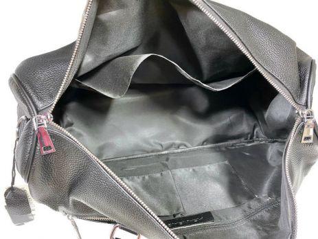 Сумка дорожная кожаная Heanbag 66290H black