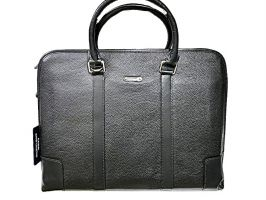 Кожаная деловая сумка Montblanc 25-6629 Black