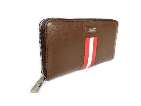 Кожаный клатч Bally 8874 brown