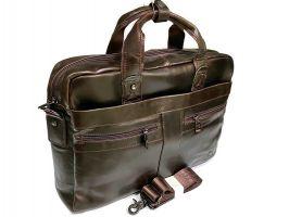 Портфель мужской кожаный Fuzhiniao 66601 brown_1