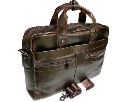 Портфель мужской кожаный Fuzhiniao 66601 brown