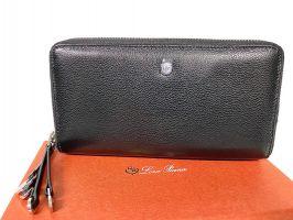 Клатч кожаный с двумя молниями Loro Piana 802 A_7