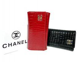 Ключница кожаная Chanel 9048 E Red