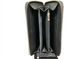Кожаный женский кошелёк на молнии Chanel 1668_3