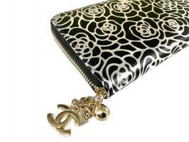 Кожаный женский кошелёк на молнии Chanel 1668_2