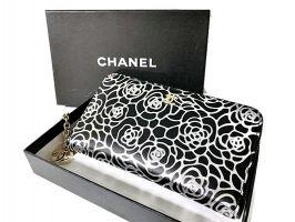 Кожаный женский кошелёк на молнии Chanel 1668_0