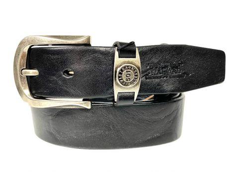 Кожаный ремень Levis 35 black