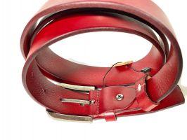 Кожаный ремень Levis 35 red_3