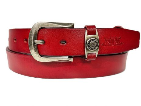 Кожаный ремень Levis 35 red