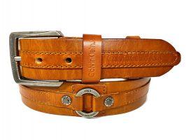 Ремень кожаный фирменный Calvin K 1681