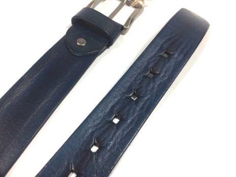 Ремень кожаный с прорезями