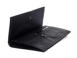 Клатч кожаный Hassion H-056 black_2