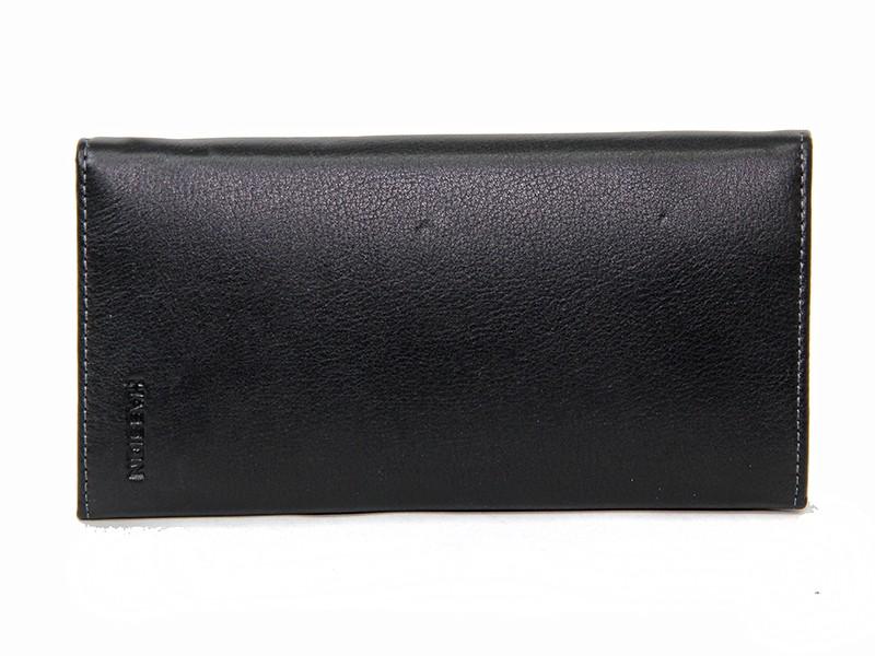 Кожаный мужской клатч Hassion H-058 black