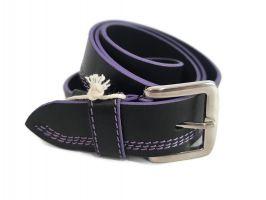Кожаный ремень DIEZZ purple_0