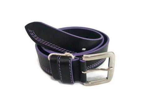 Кожаный ремень DIEZZ purple