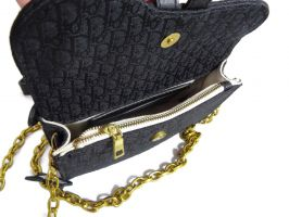 Женская сумка на пояс Christian Dior 1899 BLACK_2