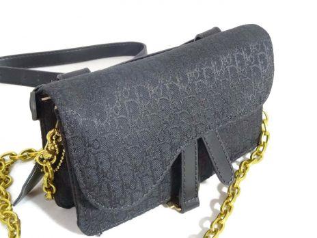 Женская сумка на пояс Christian Dior 1899 BLACK