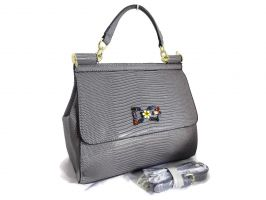Сумка женская Dolce & Gabbana (Дольче Габбана) 302 Grey_0