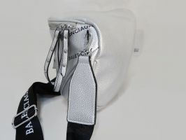 Сумка женская кросс-боди Balenciaga silver_1