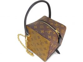 Кожаная женская сумочка Louis Vuitton (Луи Виттон) Cube_0