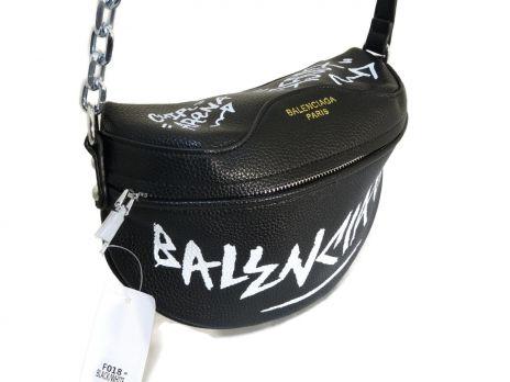 Сумка женская кросс-боди Balenciaga 018 Black