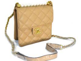 Сумка женская Chanel 6022 (шанель) beige_0